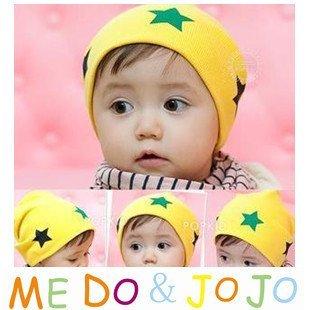 10PCS/lot wholesale baby cap five star Cotton infant hat Beanie kids hats Boy Girl baby Hat