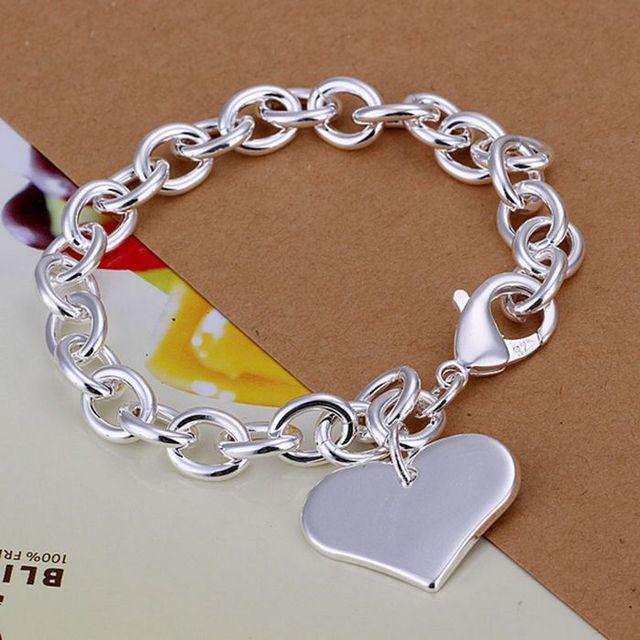 H278 925 ювелирных изделий посеребренные браслет, 925-sterling-silver мода ювелирных ...