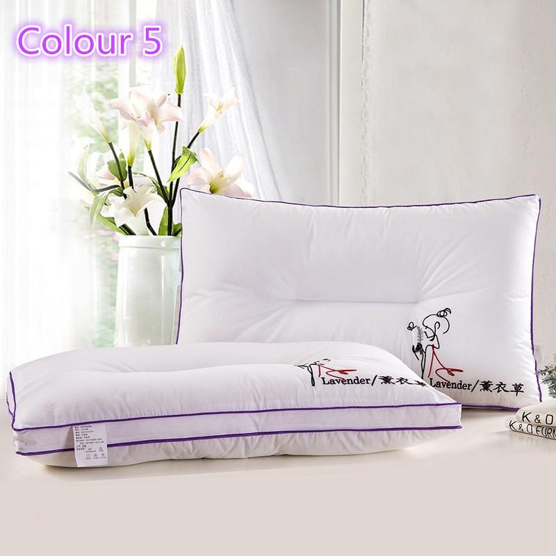 Bed pillows health care cervical neck core bedding pillow 48*74cm,Five star hotel bedding set pillow100% cotton neck pillow cheap