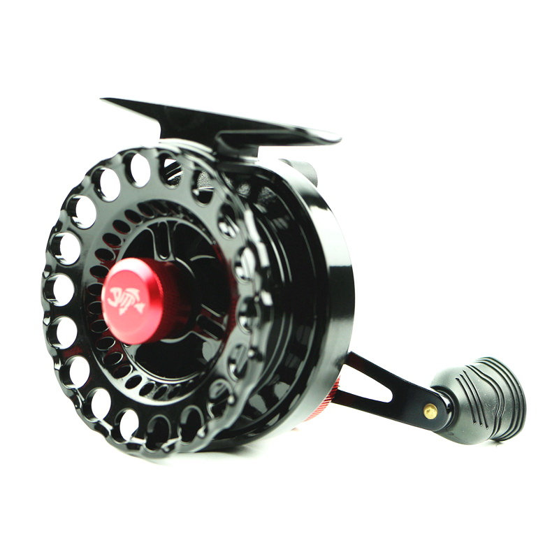 Spuer Raft Fishing Reel Small Lead Wheel 4+1BB Bearing Gear 3.6:1 Fly Reel Ice Fishing Reel Metal Handle Left/Right Hand(China (Mainland))
