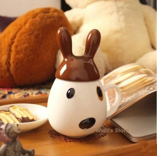 Super cute mug ceramic Cute cup Cartoon Animal Personality Milk Cup Girls and children like ceramic cup(China (Mainland))