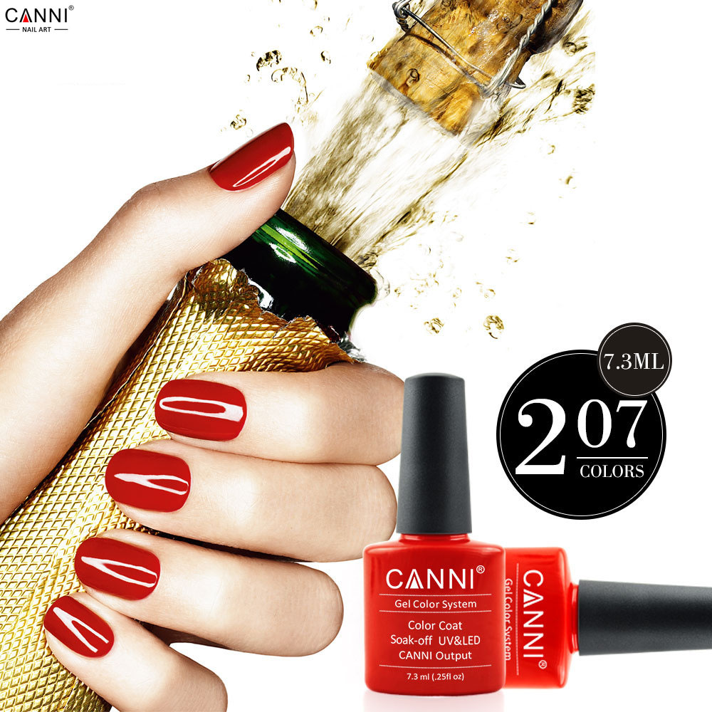 Brand CANNI Soak Off gel polish UV LED Nail Gel Polish 207 Fashion painting Colors For Nail Gel 24 colors <br><br>Aliexpress