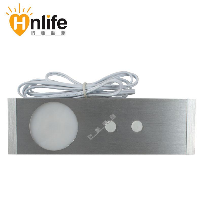 Led wardrobe lamp 1w infrared sensor light ultra-thin kitchen cabinet light cabinet lamp drawer light 08(China (Mainland))