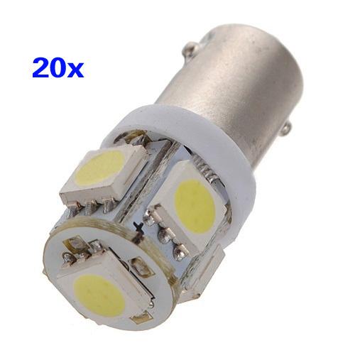 Edfy 20X T11 BA9S T4W H6W 363 белый 5 из светодиодов 5050 СМД автомобилей клин боковой свет лампы накаливания 12 В 363 6