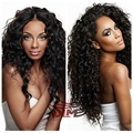 Soft Curly Wigs With Natural Lace Front Bangs Afro Kinky Curly Lace Front Wig Human Hair 8A Grade Peruvian Unprocessed Long Hair