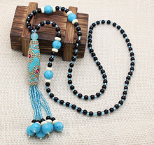 fashion unique tibet handmade beades nepal style long necklaces popular cute party necklaces jewelry for women free shipping(China (Mainland))
