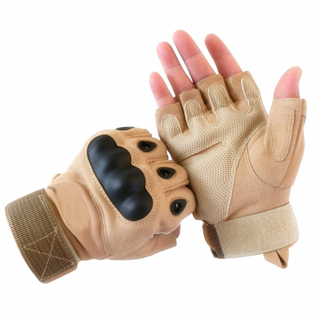 Fingerless gloves climbing - Newest Tactical Gloves For Men Fingerless Army Gloves Climbing Bicycle Outdoor Riding Hiking Climbing Training Tactical Gloves