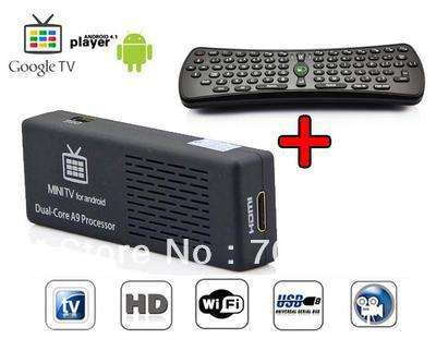 1 Lot= 1pcsMK808+1pcs RC11 air mouse Andriod 4 1 MK808 Dual Core RK3066 A9 8g Mini PC WiFi TV IPTV Box Fly Air Mouse