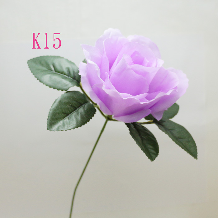 NEW 14'' bouquet of 10 piece Single Stem flowers Rose Artificial SILK Flower Home party Decorative Lilac color(China (Mainland))