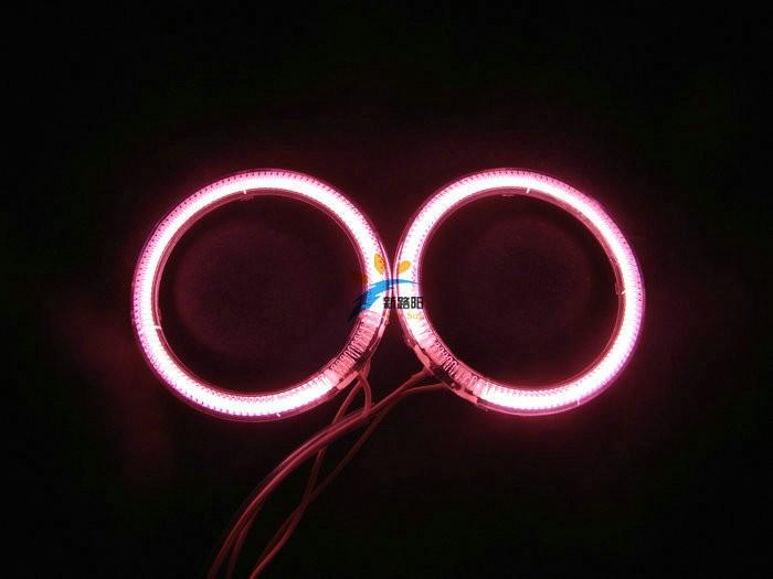 Купить Бесплатная Доставка 4 шт. за комплект CCFL angel eyes фар гало кольцо 110 мм 115 мм красочные ангел глаза объектив проектора автомобиль фары