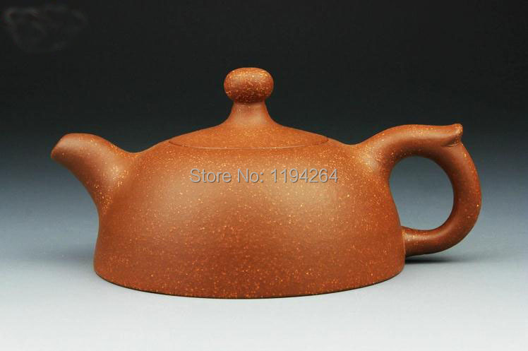 YiXing ZiSha Clay Pottery Handmade Ware Half Month Teapot Tea Accessory 180ml