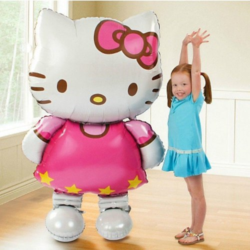 "Valentine Day Cat Hello Kitty Balloon foil Cartoon Birthday party Big Balloons Inflatable Toys Classic Baby Toy 80cm/32""(China (Mainland))"