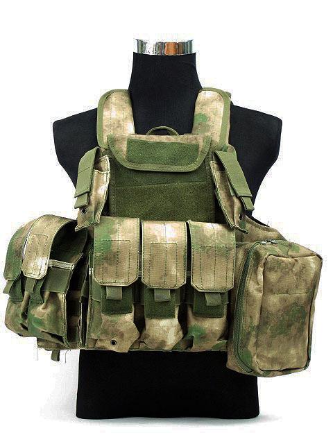Molle Combat Strike Plate Carrier CIRAS Vest A-TACS Camo FG bulletproof vest