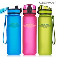 Uzspace Water Bottle Tritan Material My Sports Drink Plastic Bottle 350ml 500ml 650ml 1000ml Bpa Free(China (Mainland))