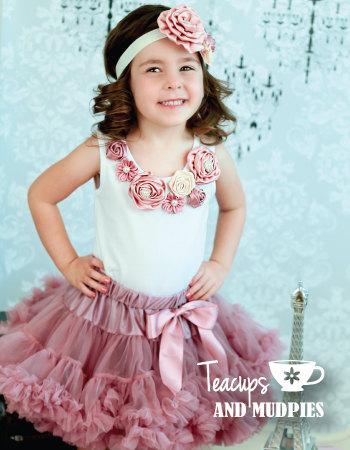 Vintage Dusty Pink Rosy Mauve Tutu skirt dusty rose pettiskirt,mauve tutu Baby girl photo prop Cake smash outfit(China (Mainland))