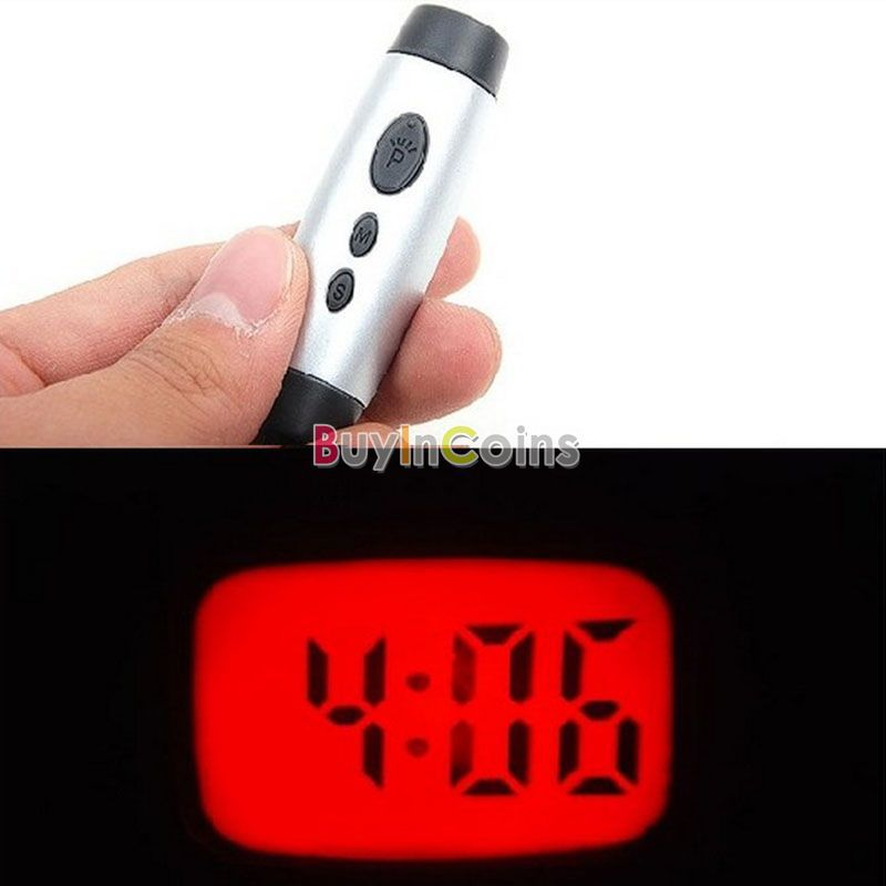Mini LED Time Digital Projection Clock Light Keychain US AS #3516(China (Mainland))