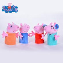 Marca Original pçs/set 4 Peppa Pig Stuffed Plush Toy 19/30 centímetros Peppa George Família do Porco Bonecas Festa de Natal presente de Ano novo Para A Menina(China)