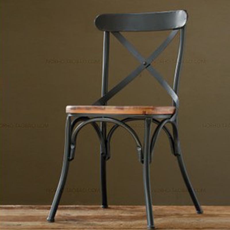 Top,The village of retro furniture,Vintage metal dining chair,anti rust treatment,wood dining furniture sets,black metal chair(China (Mainland))