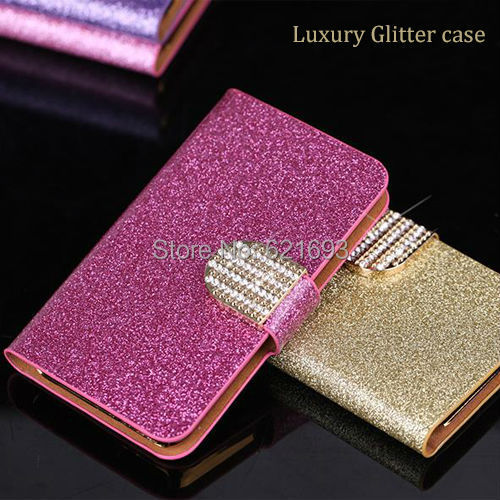 Luxury Fashion Case For Samsung OMNIA M S7530 Glitter Leather Phong Bag Cover With Card Holder Stand Back Cover(China (Mainland))
