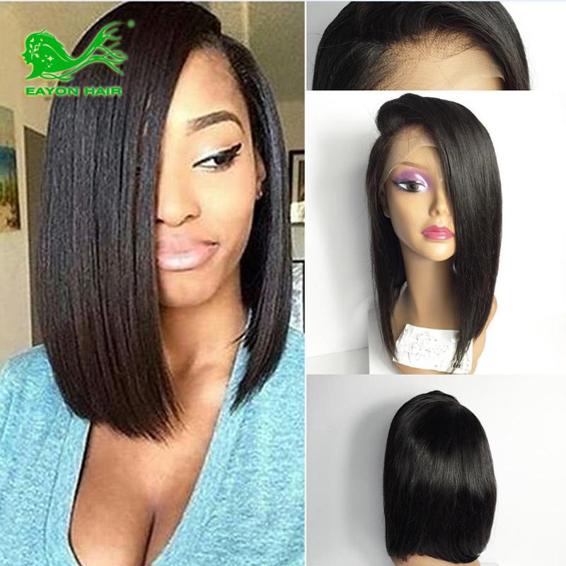 bangs wig Black bob with