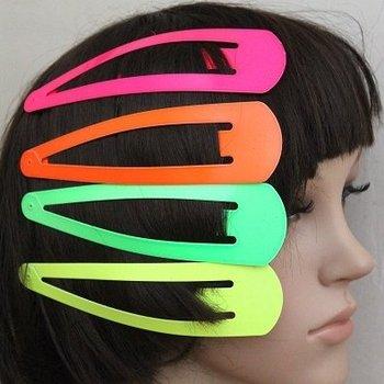 Fashion Hair Accessories Gril's Hair Clip Barrettes Hair Ornament Candy Multicolour Neon Super Big 15cm*4cm
