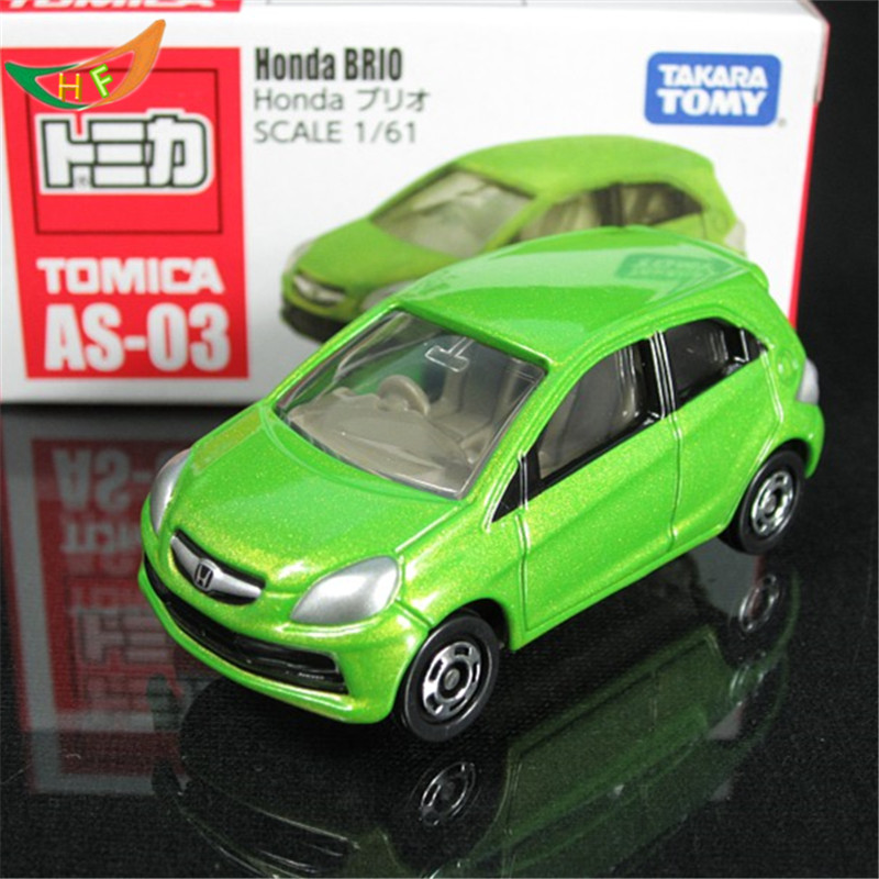 New kids toys tomy tomica green alloy honda brio car die cast collectible model cars for Christmas day gift(China (Mainland))