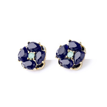 2015  Flower Earring Trendy Jewelry Factory Supply  Free Shipping (Min $20 can mix)(China (Mainland))