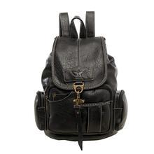 Mochila feminina do vintage mochilas para adolescentes moda sacos de viagem de alta qualidade pu couro mochila marrom escuro(China)