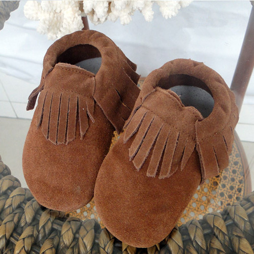 2017 Spring Autumn Genuine Leather Baby Moccasins Fringe Tassels Boots Soft Sole Newborn Toddler Shoes First Walkers - Dongguan Babytree Garment Co.,Ltd Store store
