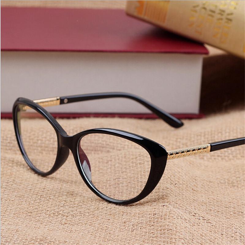 Cat Eye Frame Reading Glasses : KOTTDO New Brand Women Optical Glasses Spectacle Frame Cat ...