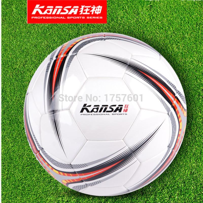 Hot Sale Fashions KS0904 size5 Seamless leather durability waterproof PU football ball Free WithNeedle+Mesh bag!(China (Mainland))
