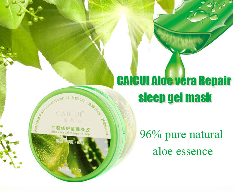 buy caicui aloe vera repair sleep gel face mask plant essence moisturizing. Black Bedroom Furniture Sets. Home Design Ideas