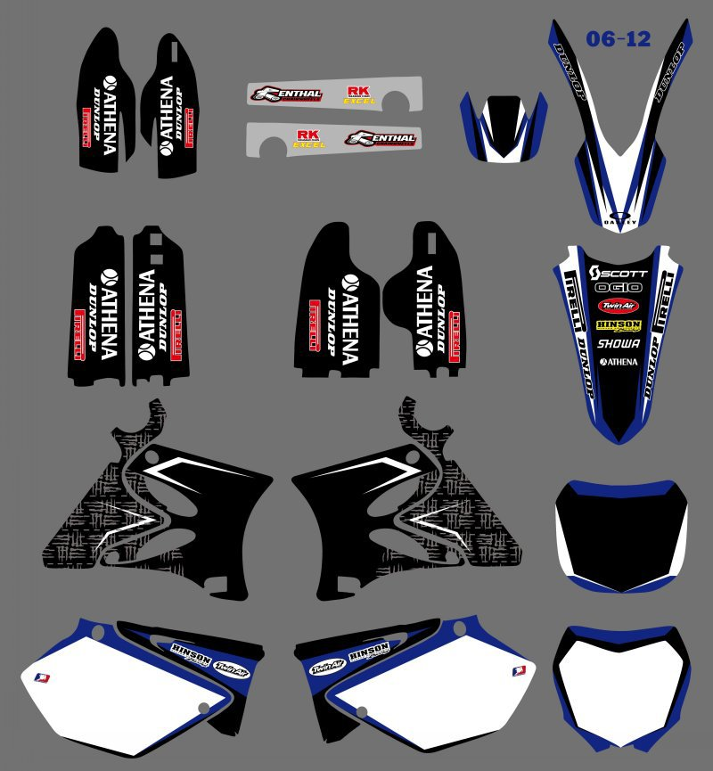 0126 New Style TEAM GRAPHICS&amp;BACKGROUNDS DECALS STICKERS Kits for  YZ125 YZ250 2002 03 04 05 06 07 08 09 2010 2011 2012<br><br>Aliexpress
