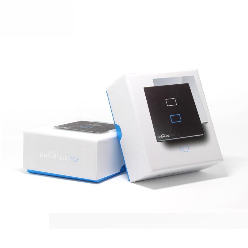 new eu standard broadlink tc2 wireless 1 gang wall light switch wifi remote control touch screen. Black Bedroom Furniture Sets. Home Design Ideas