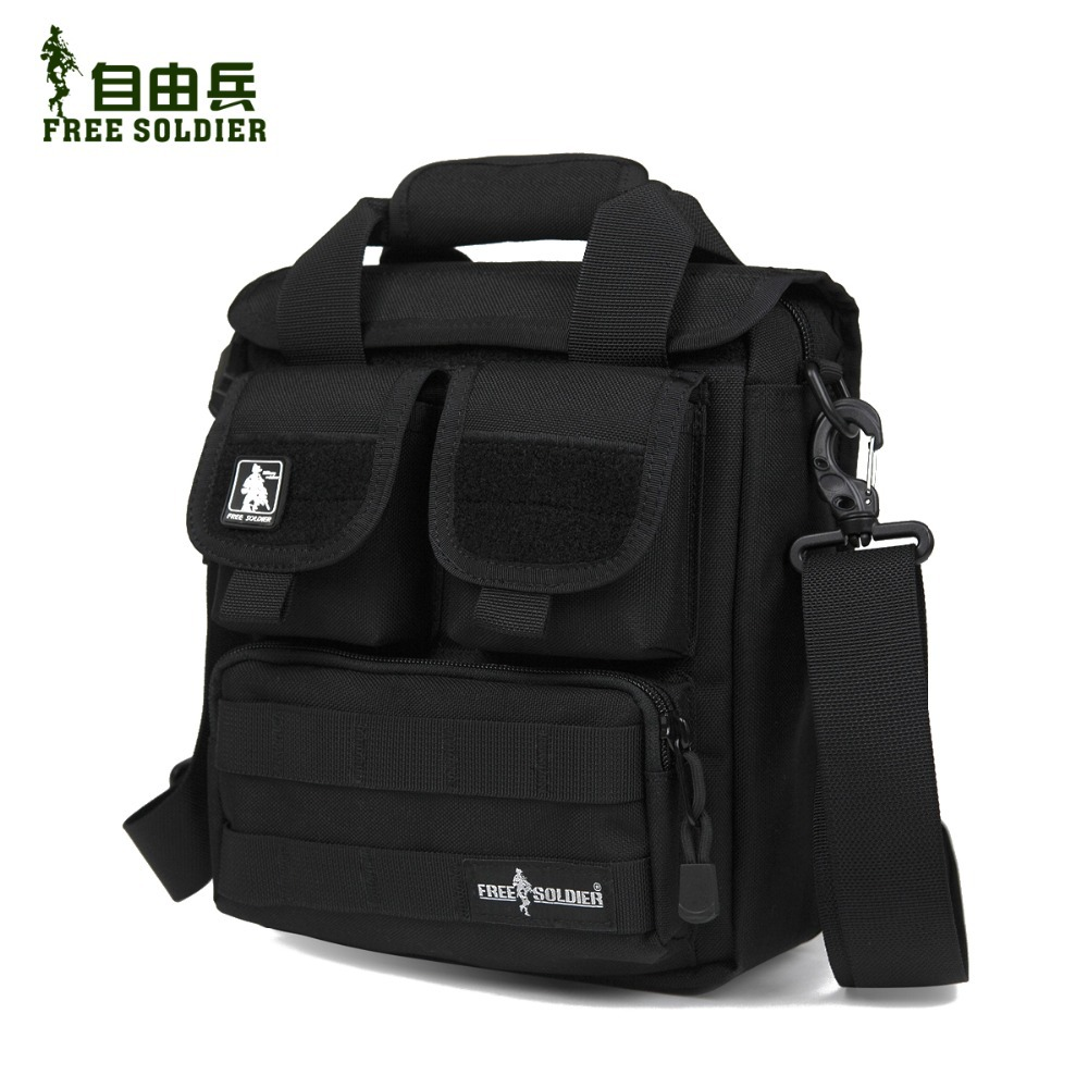 Hiking single shoulder bag men messenger bag men's travel Tactical handy bag 100% CORDURA material YKK zipper Free Soldier(China (Mainland))