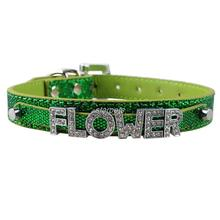 Bling Personalized Pet Dog Collar Rhinestone Customized Free Name Diamond Bucklet XS S M L(China (Mainland))
