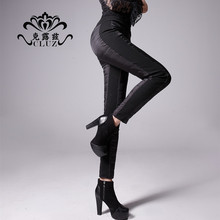 2013 pencil pants legging double faced down pants female winter thickening thermal trousers(China (Mainland))