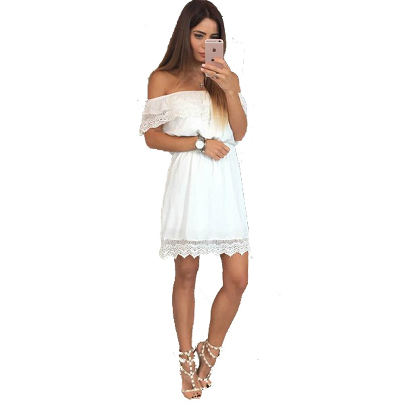 Strapless White Cotton Dress Promotion-Shop for Promotional ...