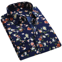 Trendy Floral Print Long Sleeve Mens Casual Shirts Slim Men Flower Printing Dress camisa masculina Hombre chemise homme - Yesperfect store