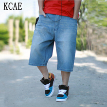 2015 Summer Mens Hip Hop Baggy Pants Denim  Jeans Shorts For Mens Skateboard Shorts Plus Size 30-46