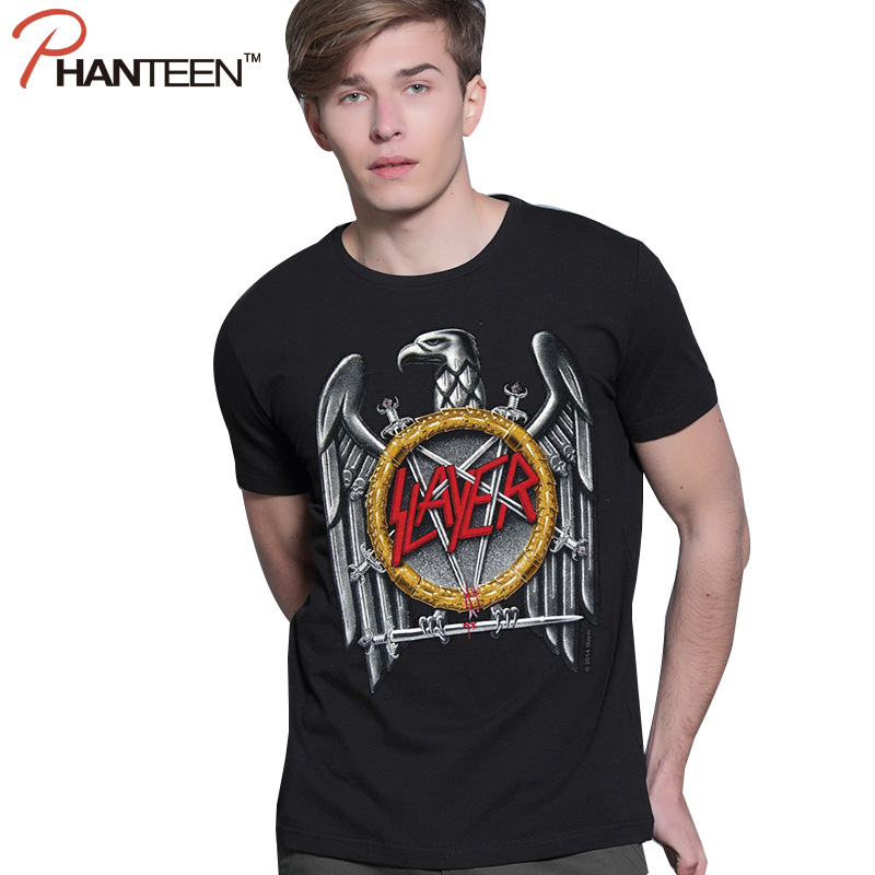 European And American Style Man T Shirts Rock And Roll Band Eagle Print 3D Summer Short Sleeve T-shirts Fashion Men Pullovers(China (Mainland))