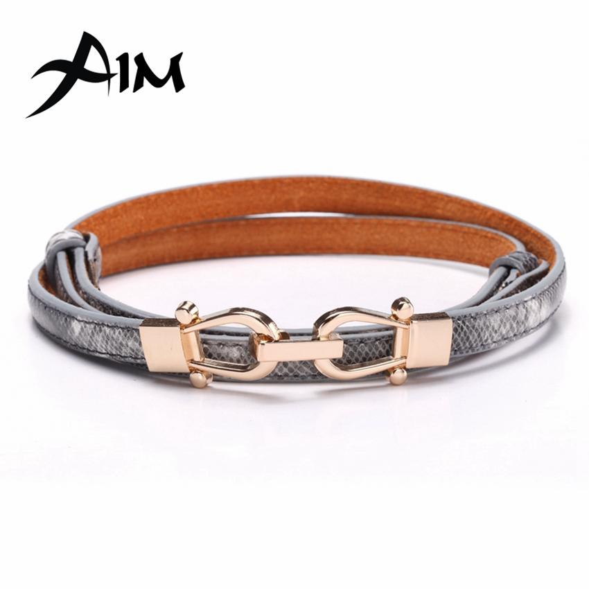 Elegant Women Belts Serpentine Real Leather Waistband Belts Women Thin Waist Slender Belt Women Fashion Accessories(China (Mainland))