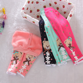 2015 new winter baby warm pants fall and winter fleece Footless new infant knit trousers size 0-2 years baby