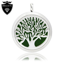 Fashion Hot 316L Stainless Steel Perfume Locket Essential Oil Diffuser Aromatherapy Locket Pendant Necklace(Send Chain Felt Pad)(China (Mainland))