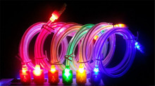 crystal led light Micro USB Cable Sync Data Charger Cables for iphone5 5s font b 6
