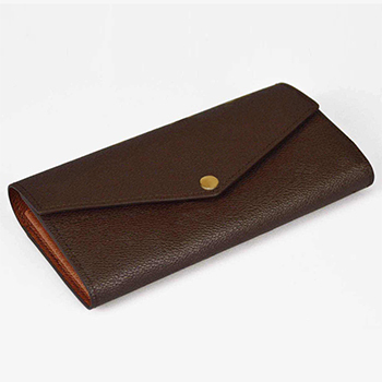 Excellent quality monogram SARAH WALLET M60531 genuine leather envelope-style wallet famous brand women wallet(China (Mainland))