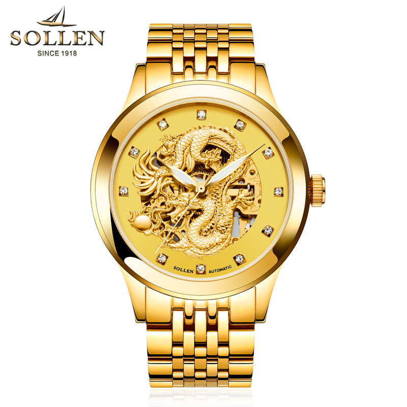 Luxury Brand Fashion Man Watch Tourbillon Mechanical Watches Sapphire Mirror Original 21 Drilling Movement Dragon Wristwatches(China (Mainland))