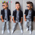 Gentleman Style Kids Boy Clothes Jacket Shirt Jeans 3pcs set Toddler Baby Boy Suit Children Party