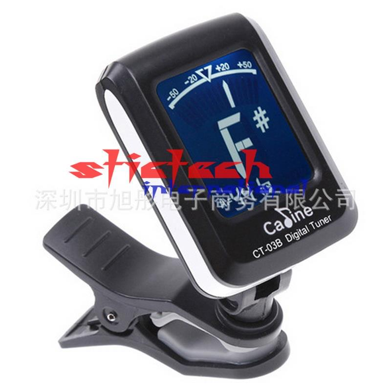 by dhl or ems 500pcs Mini Automatic Clip Digital Electronic Tuner Tuning for Acoustic Guitar(China (Mainland))