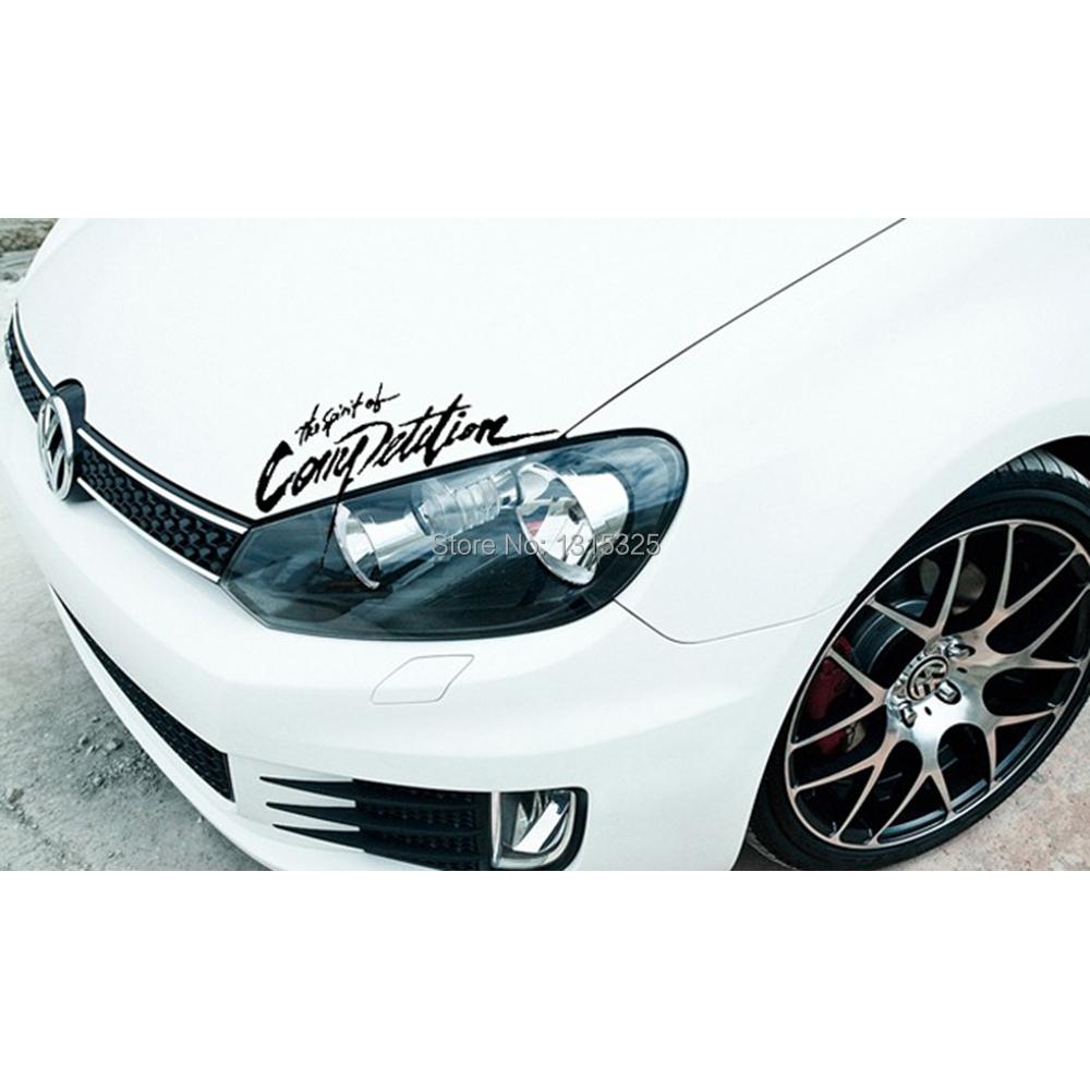 Car sticker design competition - The Spirit Of Competition Car Sticker Decal For Volkswagen Polo Gti Golf 4 5 6 7